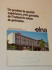 VINTAGE ancien ELNA TAVARO publicité GENEVE machine a coudre SP-T-SU SWISS MADE