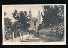 Morocco CASABLANCA Rue Defly Dieude Cathedrale c1920/30s? PPC
