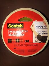 "(100 Rolls!!) 3M 3439 1.88"" X 60 Yards Scotch Home & Office Masking Tape Tan 2"""