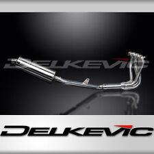 """Honda CB1100 X11 Full 4-1 Exhaust 14"""" Stainless Oval Muffler 99 00 01 02 03"""