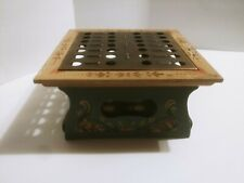 Vintage Anri Wooden Plate Warmer Made In Italy hand Painted Rare