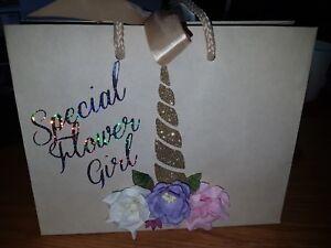 Gift Bag, Flower Girl Gift, Boutique Bag, Wedding Gift Bag, Flower Girl