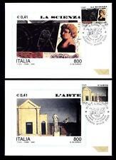 ITALIA REP. - 2000 - Avvento anno duemila (2) - L'Arte - La Scienza su maximum