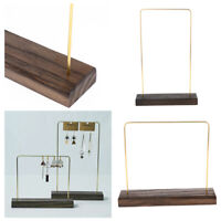 Holzsockel Stand T Bar Display Rack Showcase Ohrring Haken Anhänger Halskette
