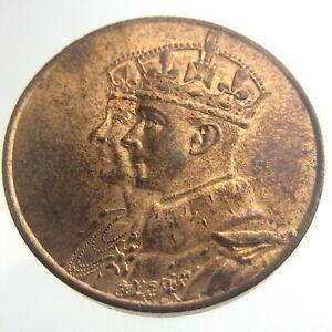 1939 Royal Visit Canada Commemorative Copper King George VI Medal Token T398