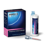 MARK3 Temporary Crown and Bridge Material 76gm Cartridge 10 Mix Tips All Shades