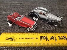 2 Built card clockwork Vintage Racing Cars 3D Puzzles With Wind Up Motor