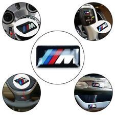 4x M Sport Performance Alloy Wheel Badge 3D Gel Gloss Stickers Decal BMW 17x9mm