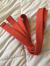 "Taekwondo Karate Belt Martial Arts Orange Belt 94"" Length Size 2"