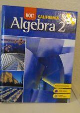 HOLT CA ALGEBRA 2 10th 11TH Grade 10 11 Math Selected Answers Homeschool VY GOOD