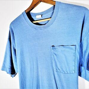 Vintage 70s 80s Fruit Of The Loom Blank T Shirt Vtg Single Stitch Tee USA XXXL