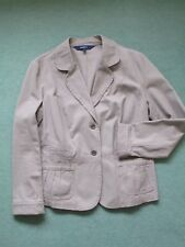 Women's JACKET size 12 Colour Taupe 100% COTTON Casual Club, once worn, washable