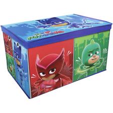 PJ MASKS JUMBO TOY STORAGE BOX WITH LID FOLDABLE CHEST CHILDRENS ORGANISER