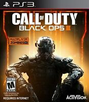 PLAYSTATION 3 PS3 GAME CALL OF DUTY BLACK OPS III BRAND NEW AND SEALED