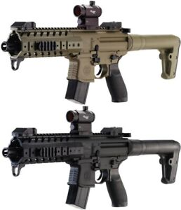Sig Sauer MPX .177 Cal CO2 Powered SIG20R Red Dot Air Rifle, 30 Rounds