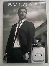 Carton publicitaire PLV double face  Parfum BVLGARI  MAN EXTREME 15X21