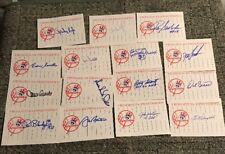 Lot of 15 Signed NY YANKEES Custom Index Cards Autographs All Different Players