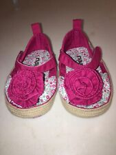 Naartjie Kids Infant Girls 'Baby Daisy'Pink Floral Print Fabric Bow Sandal 0-6M
