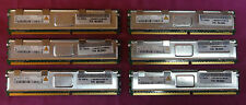 6 x 1GB IBM 39M5784 38L5903 Qimonda HYS72T128520HFD-3S-B PC2-5300F Server Memory