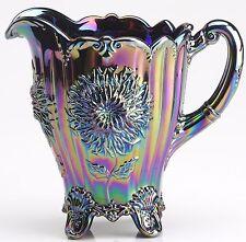 Amethyst Carnival Glass Dahlia Pattern Full Size Water Pitcher - Mosser USA