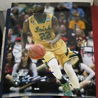 Cheap Price Jerian Grant Signed 8x10 Photo Notre Dame Fighting Irish Ncaa Star Coa 100% Original Sports Mem, Cards & Fan Shop
