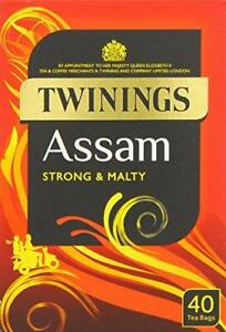 Twinings Assam Strong  Malty Tea 40 Teabags (Pack of 4,total160 Teabags)