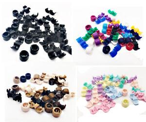 30  x  Klein  Haarperlen  Dreadperle  Dreadperlen Hair Beads   Perlen mit Clips