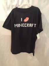 New Minecraft Children's Unisex T-shirt Size Large Color Black. See Photos