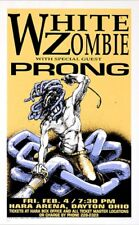 White Zombie POSTER Prong Derek Hess Silkscreen Signed Numbered