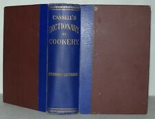 Cassell's Dictionary Of Cookery, Illustrations. HB, Cassell & Company. c1900+