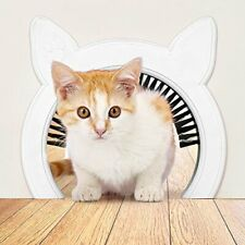 Cat Door Removable Brush Grooms Kitty | Hides Litter Box from Kids and Dog.New
