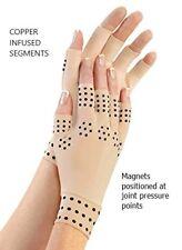 Fingerless Arthritis Gloves, Magnetic copper infused improves Blood flow, unisex