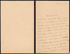 écrivain René Vallery-Radot gendre Pasteur lettre autographe signée
