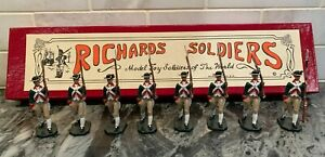 Set of 8 Revolutionary War Metal Hand Painted Toy Soldiers, Continental Marines