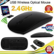 SLIM 2.4 GHz ottico USB Wireless Cordless Scroll Mouse UK PC Mac Laptop iMac