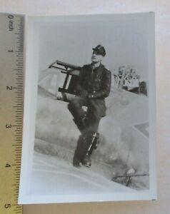 GERMAN LUFTWAFFE AIR FORCE ACE RUDOLF GLOCKNER SIGNED PHOTO WW2 Knight Cross