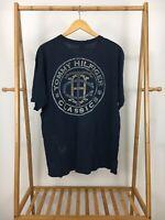 VTG Tommy Hilfiger Men's Thin Distressed Big Spellout Logo Classic T-Shirt L USA