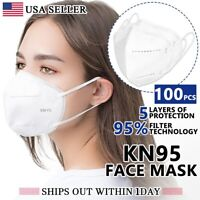 [100PCS] KN95 Protective 5 Layer Face Mask Disposable Respirator [BFE 95% PM2.5]