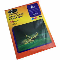 50 sheets Sumvision A4 180GSM Matte Coated Inkjet Photo Paper A Grade