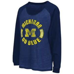 "Michigan Wolverines Women's NCAA ""Balance"" L/S Banded Bottom Top Shirt"