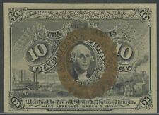 Fr1244 10¢ Choice Cu 2Nd Issue W/O Surcharges On Corners Of Reverse Bt703