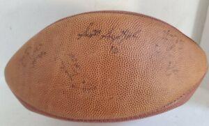 Nashville Kats Arena Football Wilson Ironman  - Signed ball - NEEDS NEW BLADDER
