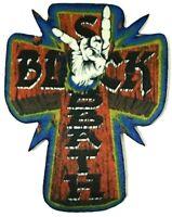 BLACK SABBATH - Cross - Printed Patch Sew/Iron On Dio aufnäher parche écusson
