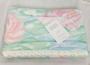 ATELIER MARTEX Monets Lilies KING Flat Sheet Floral Luxury Peracle 50/50