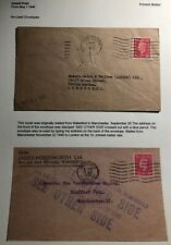 1940 Wakefield England Commercial Re Used Envelope Cover To Manchester