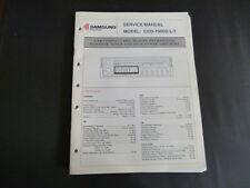 Original Service Manual  Samsung  CCD-1000D/L/T