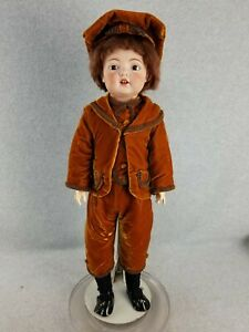 "28""  German Style antique bisque head composition American Fulper Boy Doll 1918"
