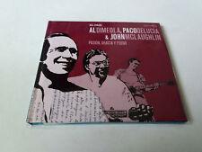 """AL DIMEOLA PACO DE LUCIA """"PASION GRACIA Y FUEGO"""" CD LIBRO 6 TRACKS COMO NUEVO"""