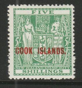 Cook Islands 1936-44 5/- Green SG 119 Mnh.