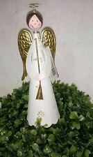 Alas de Ángel metal oro crema 21cm Navidad Vintage Shabby Casa Rural